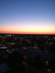 Sunrise over  Raleigh, NC