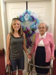 Celebrating my grandmother's 91st birthday