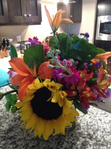 Get well flowers from mom and day